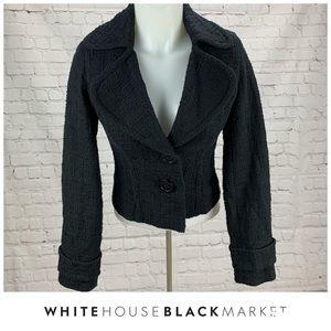 WHBM Tweed Textured Two Button Blazer Size 0